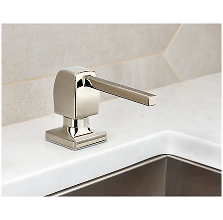 Polished Nickel Briarsfield Soap Dispenser - KSD-T1DD - 2