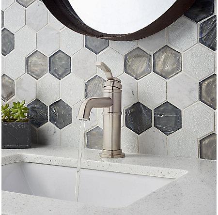 Brushed Nickel Breckenridge Single Control, Centerset Bath Faucet - LF-042-BCKK - 4