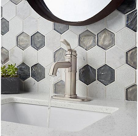 Brushed Nickel Breckenridge Single Control, Centerset Bath Faucet - LF-042-BCKK - 6