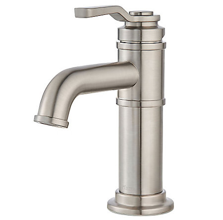 Brushed Nickel Breckenridge Single Control, Centerset Bath Faucet - LF-042-BCKK - 1