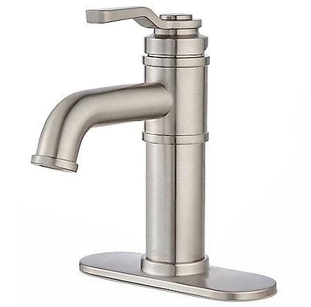 Brushed Nickel Breckenridge Single Control, Centerset Bath Faucet - LF-042-BCKK - 2