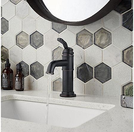 Tuscan Bronze Breckenridge Single Control, Centerset Bath Faucet - LF-042-BCYY - 4