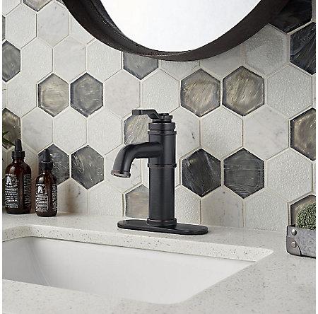 Tuscan Bronze Breckenridge Single Control, Centerset Bath Faucet - LF-042-BCYY - 5