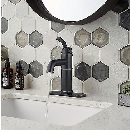 Tuscan Bronze Breckenridge Single Control, Centerset Bath Faucet - LF-042-BCYY - 6