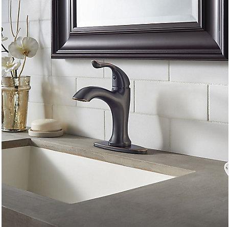 Tuscan Bronze Elden Single Control, Centerset Bath Faucet - LF-042-EDYY - 5