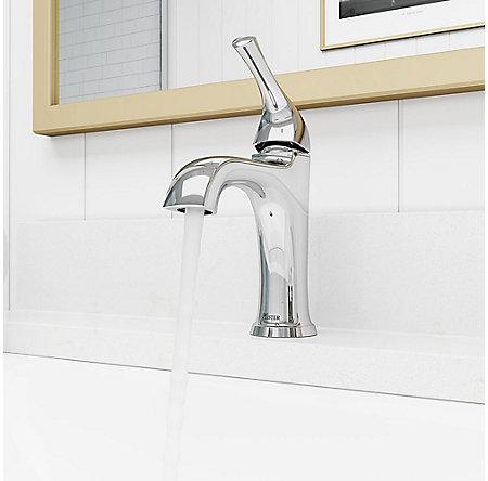 Polished Chrome Ladera Single Control Bath Faucet - LF-042-LRCC - 4