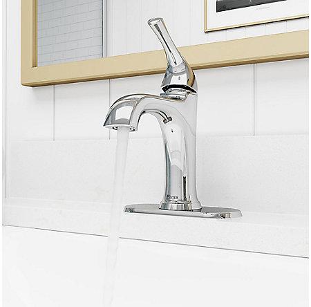 Polished Chrome Ladera Single Control Bath Faucet - LF-042-LRCC - 6