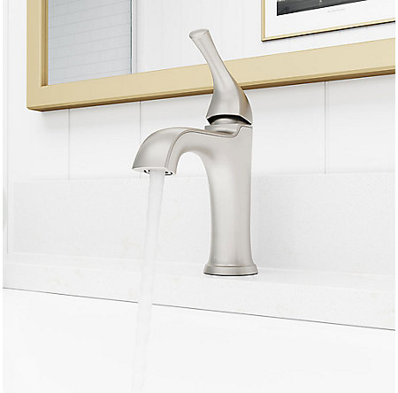 Spot Defense Brushed Nickel Ladera Single Control Bath Faucet - LF-042-LRGS - 4