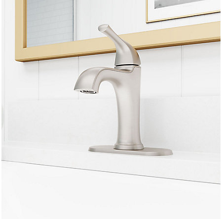Spot Defense Brushed Nickel Ladera Single Control Bath Faucet - LF-042-LRGS - 5