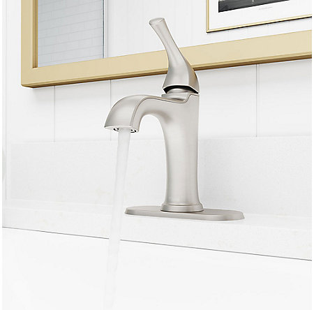 Spot Defense Brushed Nickel Ladera Single Control Bath Faucet - LF-042-LRGS - 6