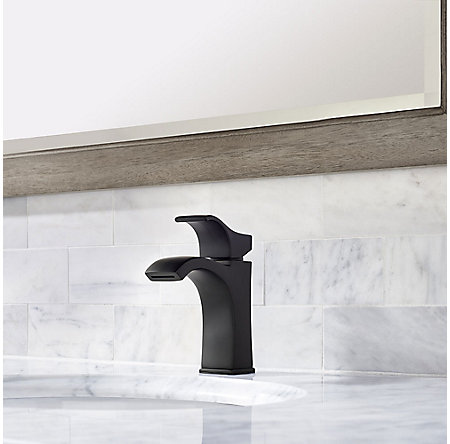 Black Venturi Single Control Centerset Bath Faucet Lf