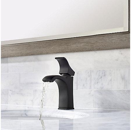 Black Venturi Single Control, Centerset Bath Faucet - LF-042-VNBB - 4