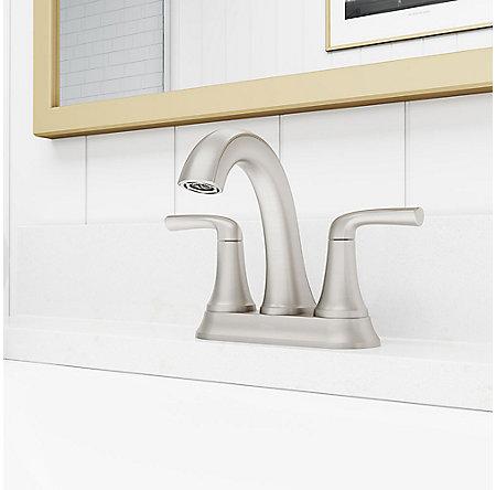 Spot Defense Brushed Nickel Ladera Centerset Bath Faucet - LF-048-LRGS - 2