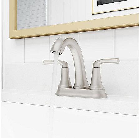 Spot Defense Brushed Nickel Ladera Centerset Bath Faucet - LF-048-LRGS - 3