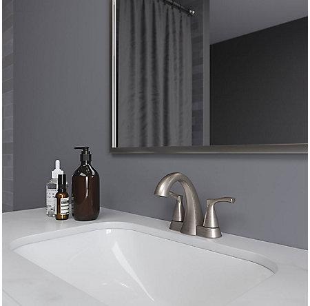 Brushed Nickel Masey Centerset Bathroom Faucet - LF-048-MCKK - 2