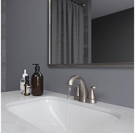 Brushed Nickel Masey Centerset Bathroom Faucet - LF-048-MCKK - 3