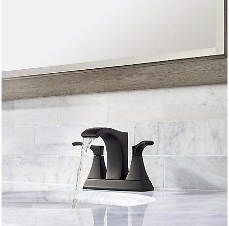 Black Venturi Centerset Bath Faucet - LF-048-VNBB - 3