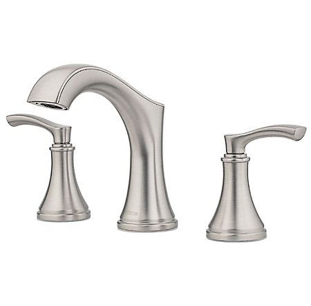 Spot Defense Brushed Nickel Auden Widespread Bath Faucet - LF-049-ADGS - 1
