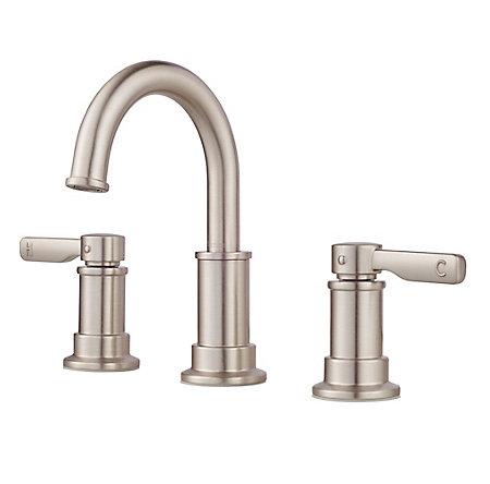 Spot Defense Brushed Nickel Breckenridge Widespread Bath Faucet - LF-049-BCGS - 1