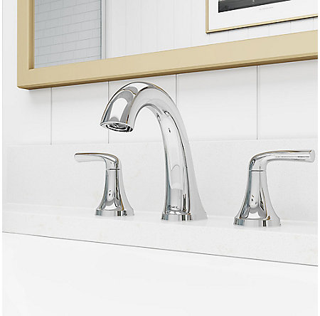 Polished Chrome Ladera Widespread Bath Faucet - LF-049-LRCC - 2