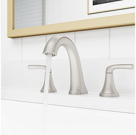 Spot Defense Brushed Nickel Ladera Widespread Bath Faucet - LF-049-LRGS - 3