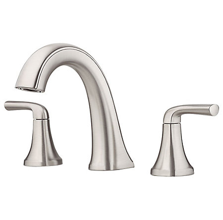 Spot Defense Brushed Nickel Ladera Widespread Bath Faucet - LF-049-LRGS - 1