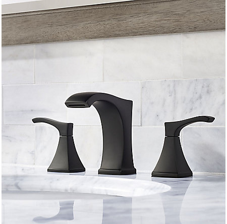 Black Venturi Widespread Bath Faucet - LF-049-VNBB - 2