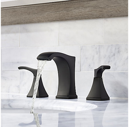 Black Venturi Widespread Bath Faucet - LF-049-VNBB - 3