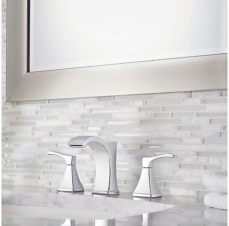Polished Chrome Venturi Widespread Bath Faucet - LF-049-VNCC - 2