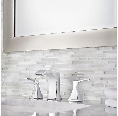 Polished Chrome Venturi Widespread Bath Faucet - LF-049-VNCC - 3