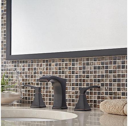 Tuscan Bronze Venturi Widespread Bath Faucet - LF-049-VNYY - 2