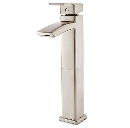 Brushed Nickel Kenzo Single Handle Vessel Faucet - LG40-DF1K - 1