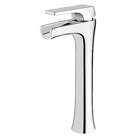 Polished Chrome Kelen Single Handle Trough Vessel Faucet - LG40-MF1C - 1