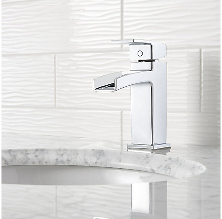 Polished Chrome Kenzo Single Control, Trough Bath Faucet - LG42-DF0C - 3