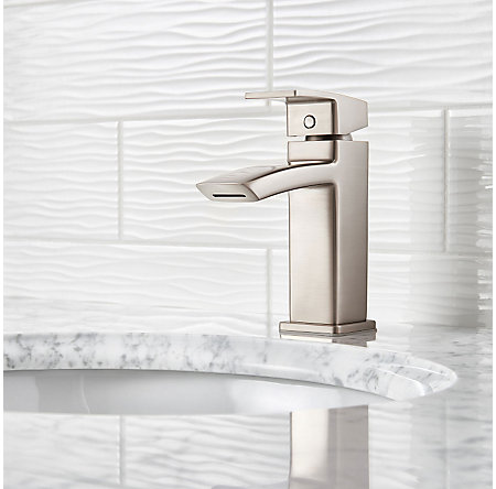 Brushed Nickel Kenzo Single Control Bath Faucet - LG42-DF1K - 2