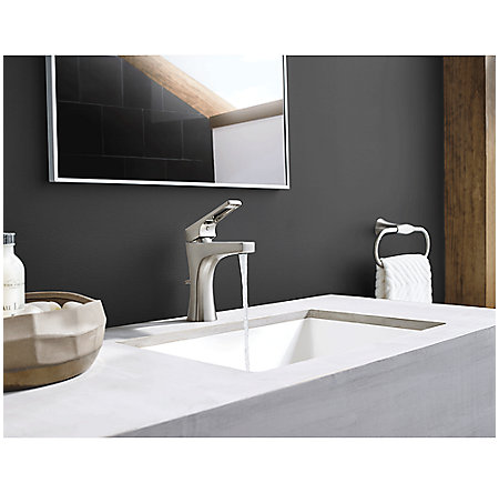 Brushed Nickel Kelen Single Control Bath Faucet - LG42-MF0K - 3