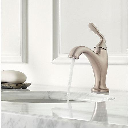 Brushed Nickel Northcott Single Control Bath Faucet - LG42-MG0K - 3
