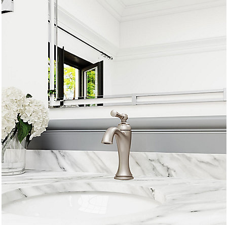 Brushed Nickel Tisbury Single Control Bath Faucet - LG42-TB0K - 3
