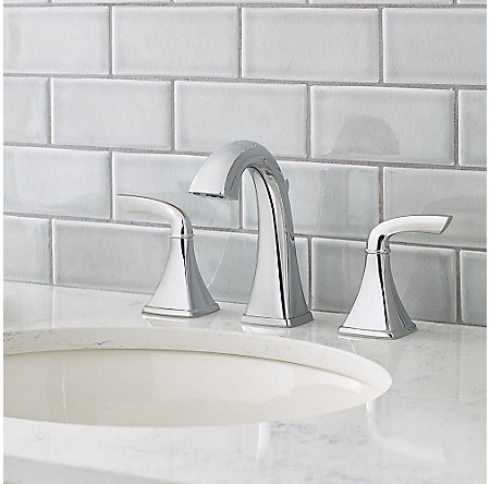Polished Chrome Bronson Widespread Bath Faucet - LG49-BS0C - 2