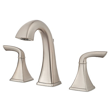 Brushed Nickel Bronson Widespread Bath Faucet - LG49-BS0K - 1