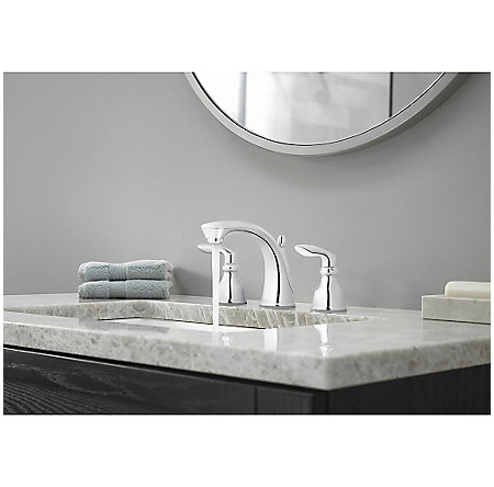 Polished Chrome Avalon Widespread Lavatory Faucet - LG49-CB1C - 3