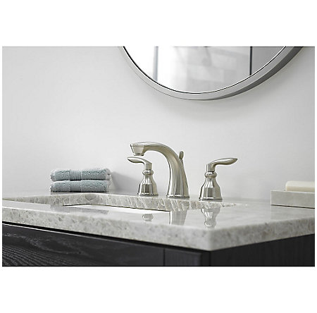 Brushed Nickel Avalon Widespread Lavatory Faucet - LG49-CB1K - 2