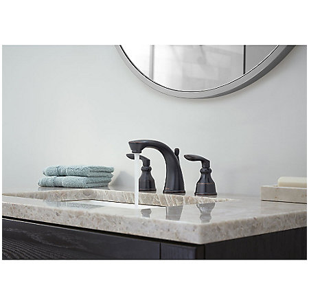 Tuscan Bronze Avalon Widespread Lavatory Faucet - LG49-CB1Y - 2