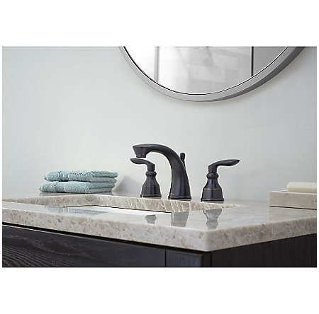 Tuscan Bronze Avalon Widespread Lavatory Faucet - LG49-CB1Y - 3