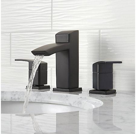 Black Kenzo Widespread Bath Faucet - LG49-DF2B - 3