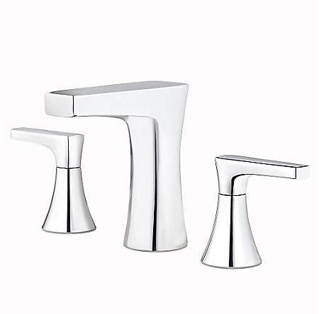 Polished Chrome Kelen Widespread Bath Faucet - LG49-MF0C - 1