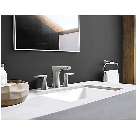 Brushed Nickel Kelen Widespread Bath Faucet - LG49-MF0K - 2