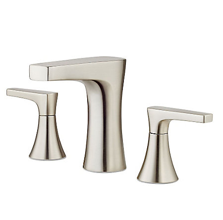 Brushed Nickel Kelen Widespread Bath Faucet - LG49-MF0K - 1