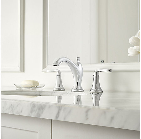 Polished Chrome Northcott Widespread Bath Faucet - LG49-MG0C - 2