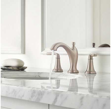 Brushed Nickel Northcott Widespread Bath Faucet - LG49-MG0K - 3